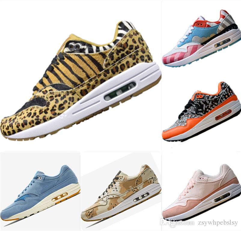 b8225fb61a73 2019 New Atmos Animal 1s 95 OG Leopard Print Fur Running Sneakers Atmos  Animal 1OG AirCushion And EVA Cushioning Athletic Shoes Kids Tennis Shoes  On Sale ...