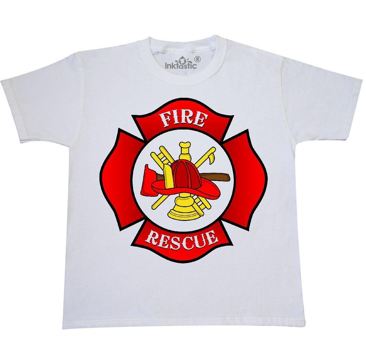 c54b8fb31 Inktastic Maltese Cross Firefighter Youth T Shirt Fireman Rescue Fire And  Team Cool Casual Pride T Shirt Men Unisex Fashion Tshirt Purchase T Shirts  Silly T ...