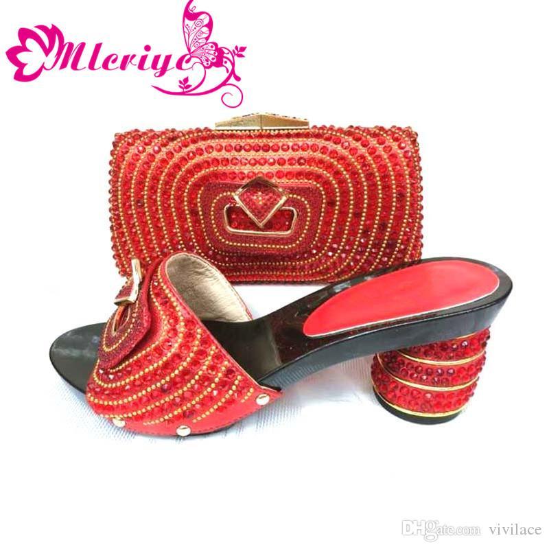 c88a96f39f Acheter 2019 Nouveau Design Africain Chaussure Et Sac Ensemble Pour La Fête Chaussure  Italienne Avec Sac Assorti Assorti Violet Chaussure Et Sac Pour Robe ...