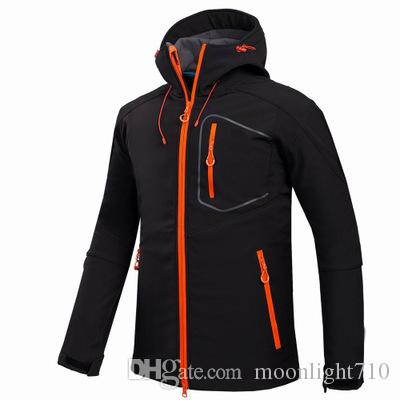 Custom LOGO Outdoor Shell Jacket Winter Brand Hiking Softshell Jacket Men  Windproof Waterproof Thermal For Hiking Camping Mens Jacket For Sale White  Bomber ... 32812093f