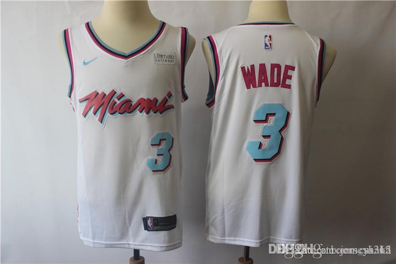 Cheap Mens 3 Dwyane Wade Miami Playoff Jerseys Heat Basketball Jerseys New  The City Edition White Black Red Dwyane Wade Jerseys Stitched 04cea3755