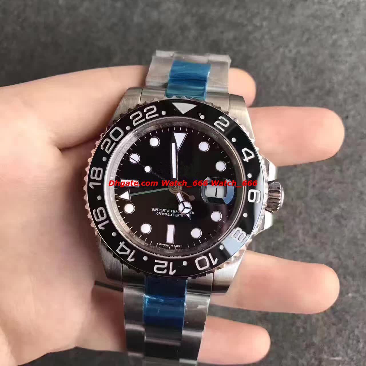753f7fb80 New V7 Version Mens Automatic Cal.3186 Watch Blue Black Ceramic Men ...