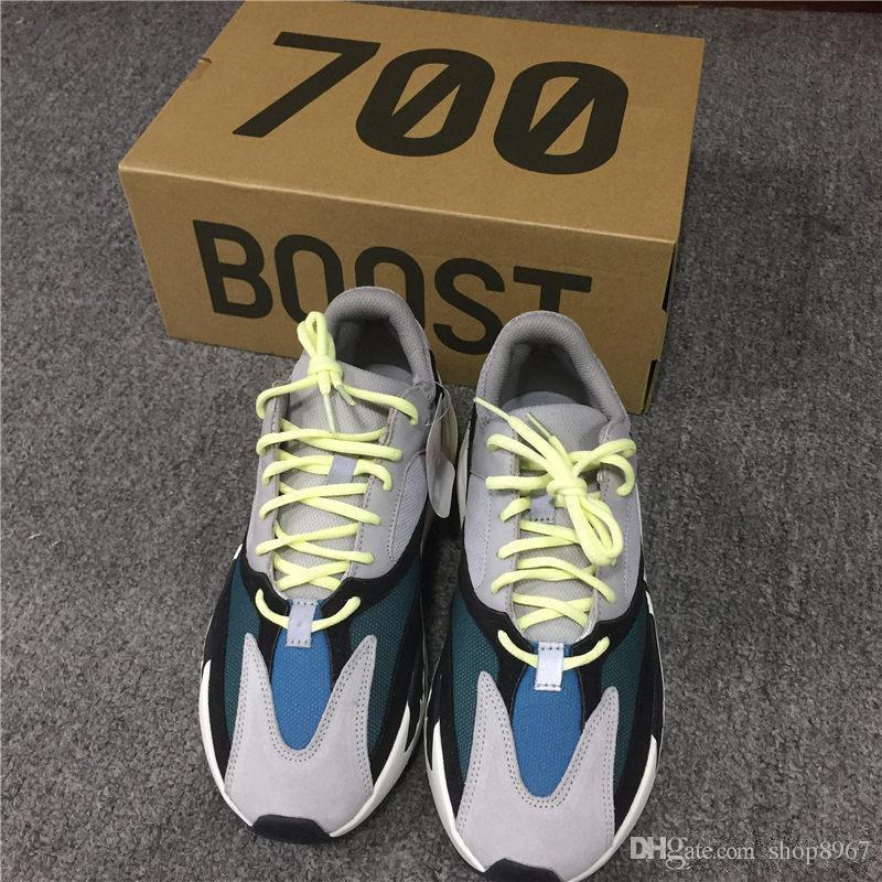 87e96250458e8 2017 High Quality Wave Runner 700 Real Boost Womens Mens Run Shoes Design  By Kanye West Season5 700s Sneakers Size 36 45 Christmas Gift Geox Shoes  Cheap ...