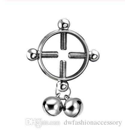 Fashion piercing jewelry Women Body Piercing Breast Nail Screw Bell Pendant Fake Nipple Ring Jewelry Stainless steel piercing