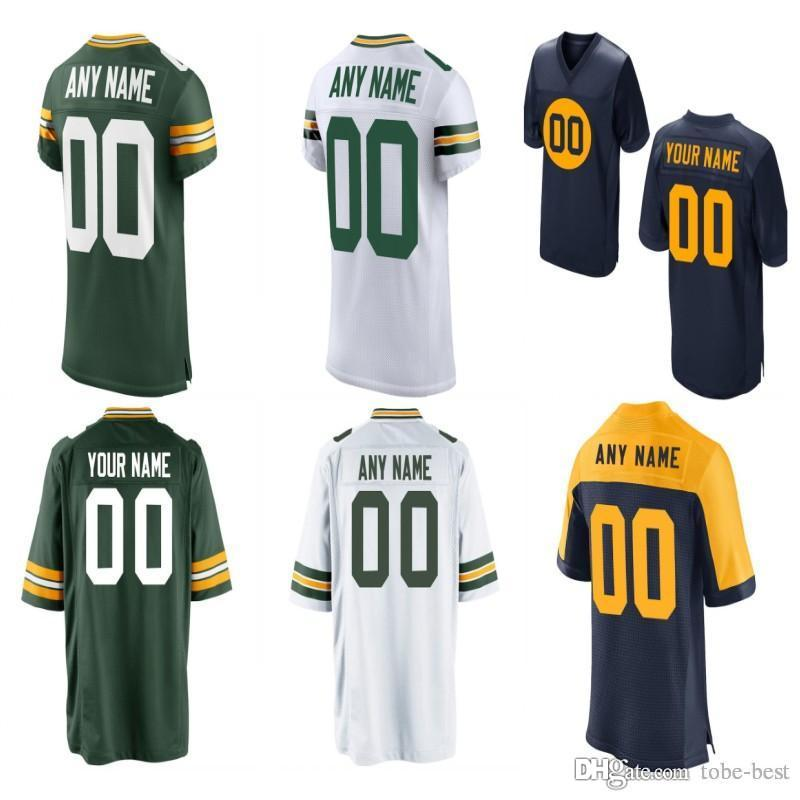19977f4b7 Custom Men Youth Women Green Aaron Rodgers Clay Matthews Muhammad ...
