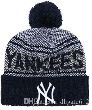 1cac598dffe98 Discount NEW YORK Beanie NY Sideline Cold Weather Graphite Official Revers  Sport Knit Hat All Teams winter Warm Knitted Wool Skull Cap 03