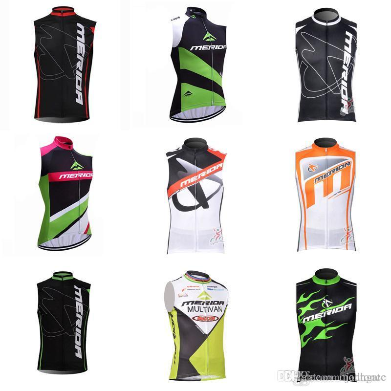 MERIDA team Cycling Sleeveless jersey vest 2018 New Bike Outdoor sportswear Racing sleeveless tops Mountain Bicycle c2113