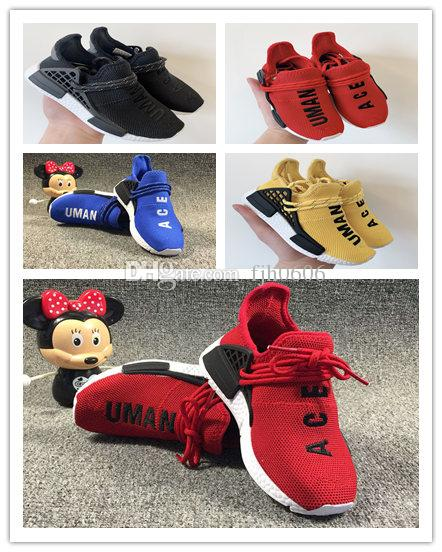 dfc964d90 Big Kids Sports Shoes For Kid Human Race Trainers Boys Pharrell Williams  Pour Enfants Chaussures Children Sport Shoe Youth Sneakers Baby Running  Shoes ...