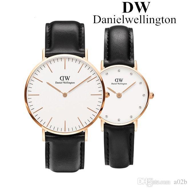 talla 40 ecfe0 6427b El nuevo reloj Daniel Wellington para hombre y mujer 2019 es un reloj de  cuarzo de marca casual de negocios de cuero de nylon de 40 mm 40 mm.