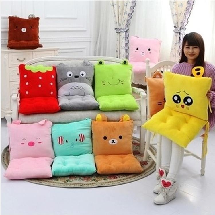 Manufacturers Wholesale Thickened Office Chair Cushion Cartoon Cushion Can Be Customized Logo with A Plush Cushion