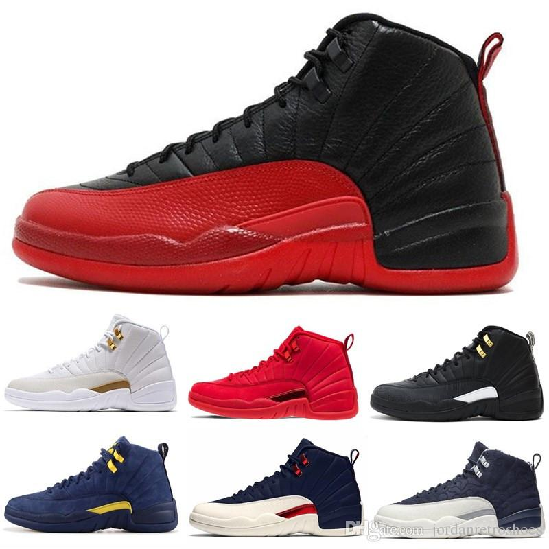 161d4b7bad7d34 High Quality 12 12s OVO White Gym Red Master Basketball Shoes Men Women  Taxi Blue Suede Flu Game Olive Canvas Sports Shoes Sneakers Best Basketball  Shoes ...