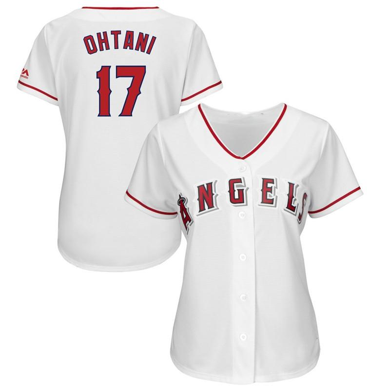more photos 994dc c821f Womens Mike Trout Shohei Ohtani Custom La Angels Jersey Albert Pujols Jose  Fernandez Alex Meye Ladies Los Angeles Baseball Jerseys