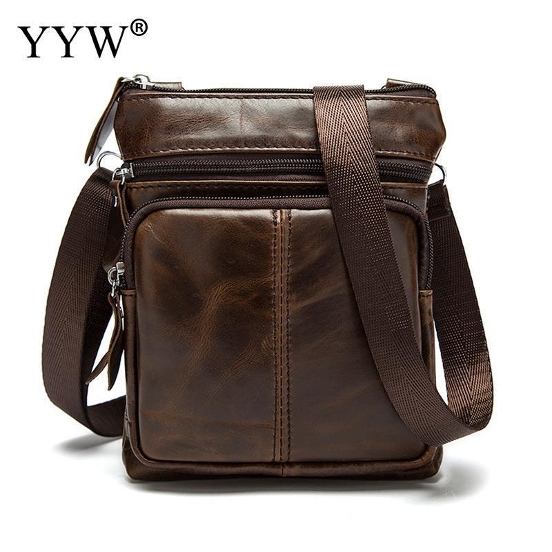 3005a7c6c YYW Messenger Bag Men Shoulder Bag Genuine Leather Small Male Man Crossbody  Bags For Messenger Men Leather Handbags Dropship Satchel Handbags White  Handbags ...