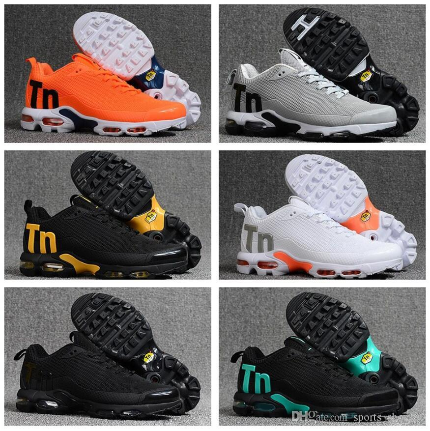 2019 New Mens Mercurial Plus Tn Ultra SE Black White Orange Desinger Running Shoes Women MenTrainers Sports Sneakers Size 40-46