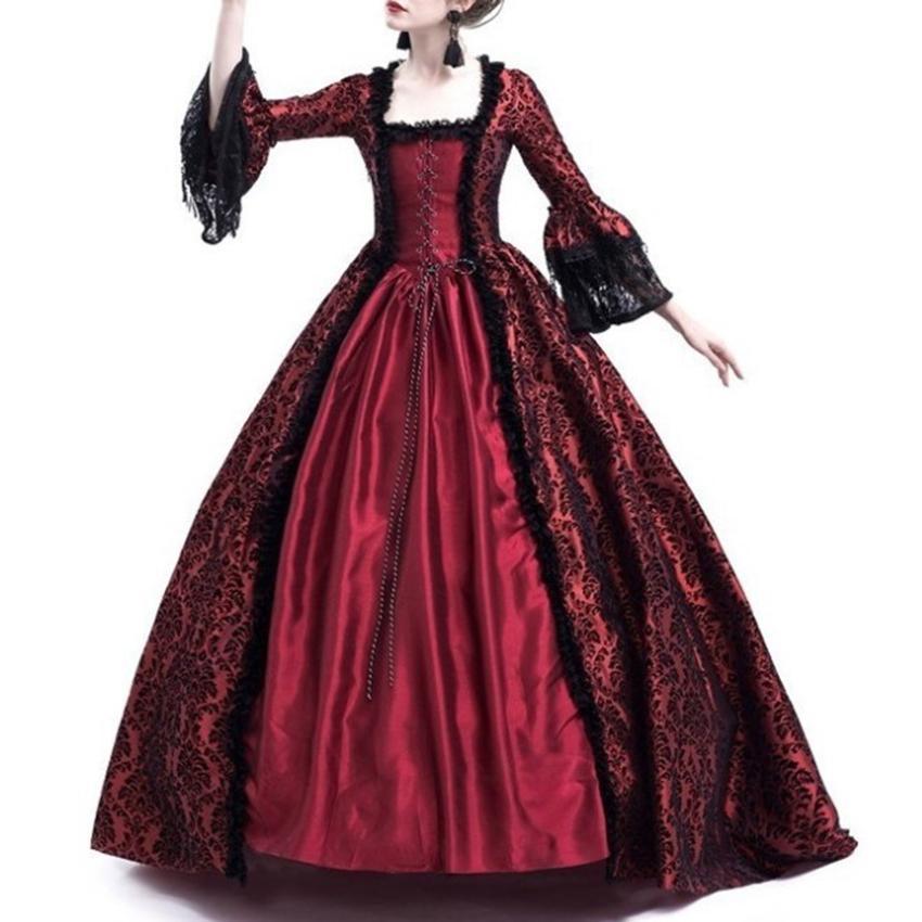 9809f4f578afa Acquista Costume Da Principessa Medievale Le Donne Abito Da Sera Adulti  Abito Da Sera Le Signore Abito Lungo Sexy Da Donna In Pizzo A  48.9 Dal  Lany0128 ...