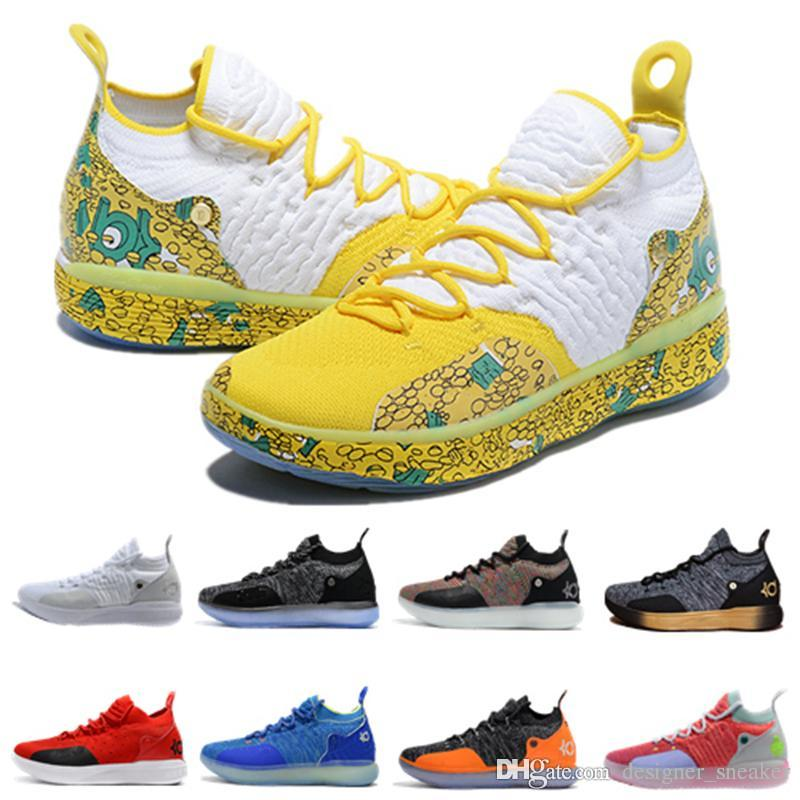 cb338acc02e8 2019 2019 New Hot Kevin Durant Kd 11 Basketball Shoes Mens Durant Gold Championship  MVP Finals Training Sneakers Sports Running Shoes Size 7 12 From ...
