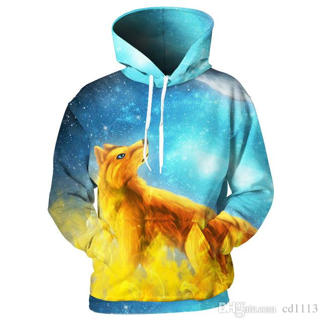 5a1947951891 2019 3D Hoodies Men Fire Ice Foxes 3D Print Animal Hoody Sweatshirts  Streetwear Pullovers Tops Tracksuits Brand Quality From Cd1113, $39.15    DHgate.Com