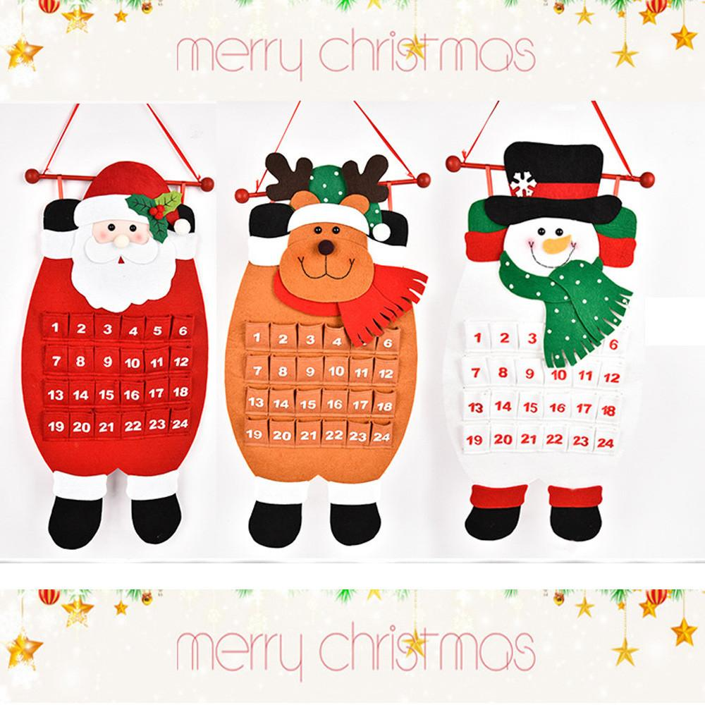 Calendario Countdown.Christmas Old Man Snow Man Deer Calendar Advent Countdown Calendar Calendario Adviento Christmas Advent