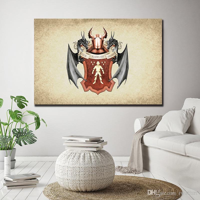 A Song Of Ice And Fire Poster Game Of Thrones George Canvas Painting Wall Picture Poster And Print Decorative Home Decor