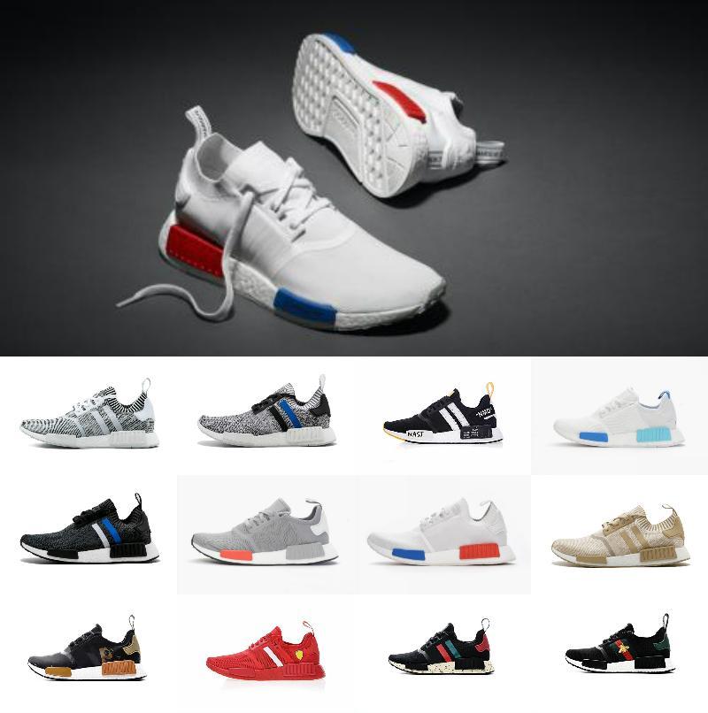 81bbec3e3834 Hot Sale 2018 NMD R1 Shoes Mens OG Off Japan Triple Black White Tri Color  Grey Men Women Primeknit Casual Shoes Sneakers 5 11 Black Shoes Wholesale  Shoes ...