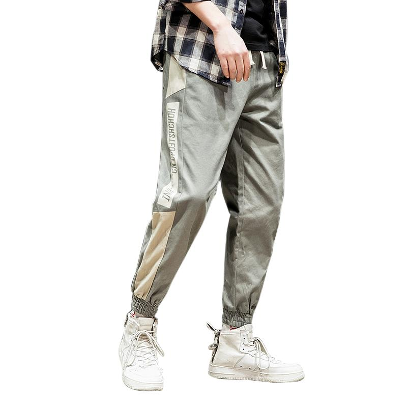 162888e0394 2019 Side Pockets Cargo Harem Pants Men Spring Casual Loose Elastic Waist  Cotton Hip Hop New Male Trousers Mens Joggers Pants Homme From Cantury