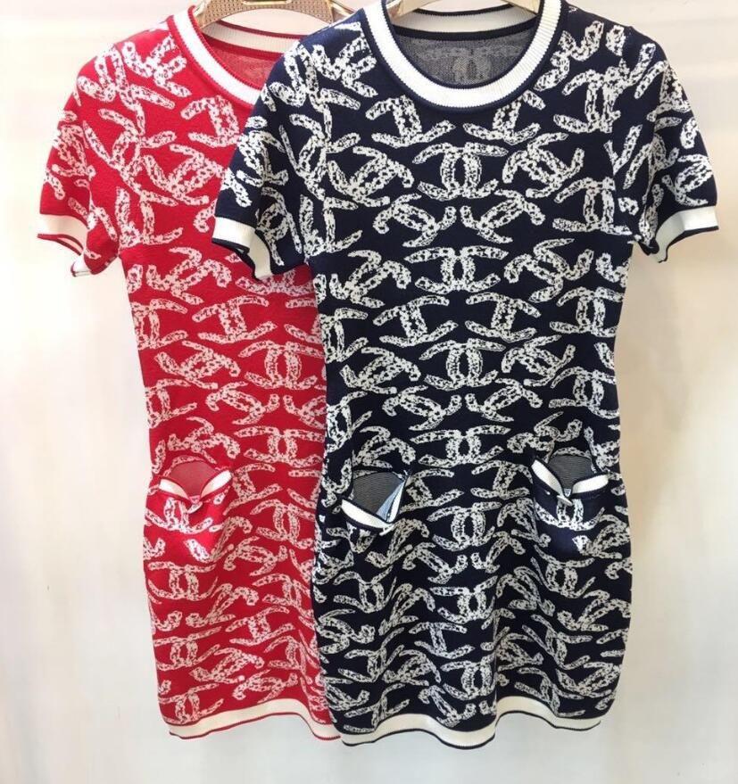 301b04d07d 2019 Milan Runway Dress 2019 Sping Summer O Neck Short Sleeve Letter Print  Designer Dress Brand Same Style Dress 022302 From Coat123789