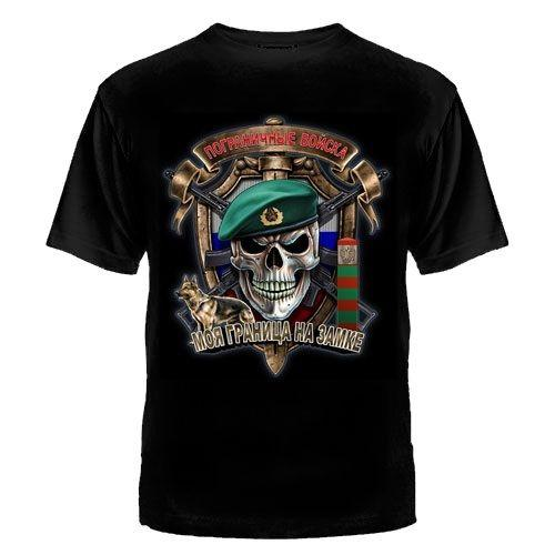 2019 Fashion Cool Summer Streetwear Grenztruppe Russland T-Shirt Speznas Fsb Elite Russian Army Kgb Cccp Summer Tops Tees