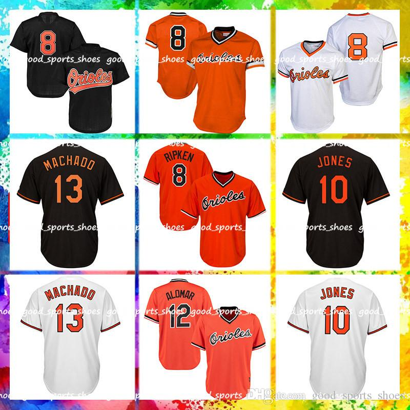 f3cb5ca9d 2019 Baltimore Orioles Majestic Coolbase Jersey 8 Cal Ripken Jr. Jersey 10  Adam Jones Jersey 13 Manny Machado Jerseys 12 Roberto Alomar Jerseys From  ...