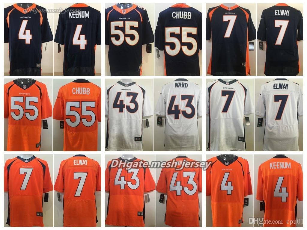 2019 Men Denver Jersey Broncos 4 Case Keenum 55 Bradley Chubb 7 John Elway  43 TJ Ward 21 Aqib Talib Stitching Elite Jerseys From Oho04 713b803a3