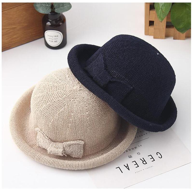 2018 New Lovely Boater Sun Hat Ribbon Round Dome Straw Fedora Panama Bow Hat  Summer Caps For Women Straw Women S Hats Gorra Fascinator Hats Tilley Hat  From ... af6a5cc38e2