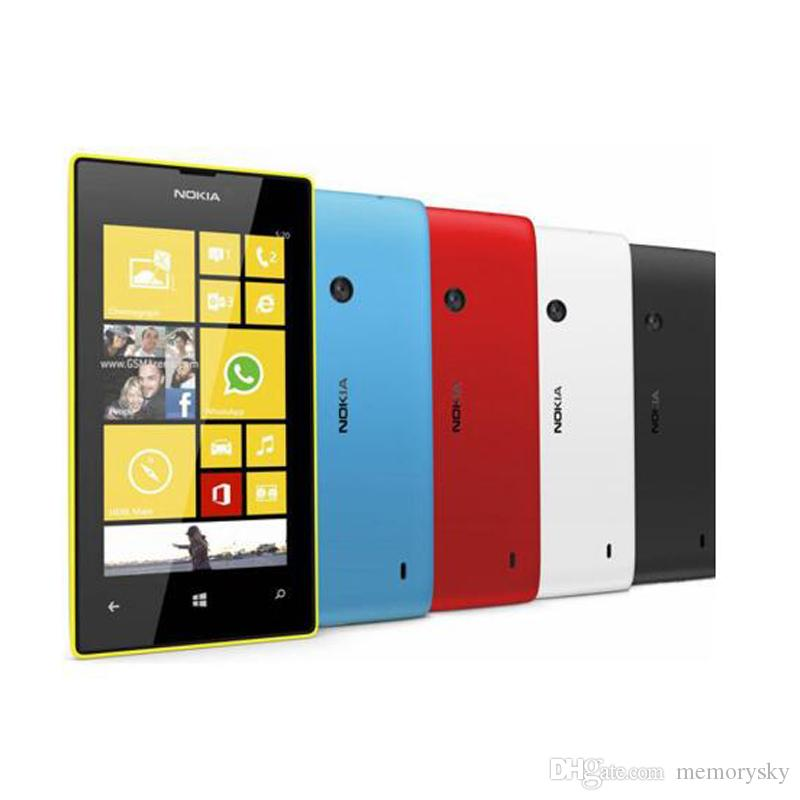 Refurbished Original Nokia Lumia 520 Window Phone 4.0 inch Dual Core 8GB 5MP Camera WIFI GPS 3G Unlocked Mobile Cell Phone