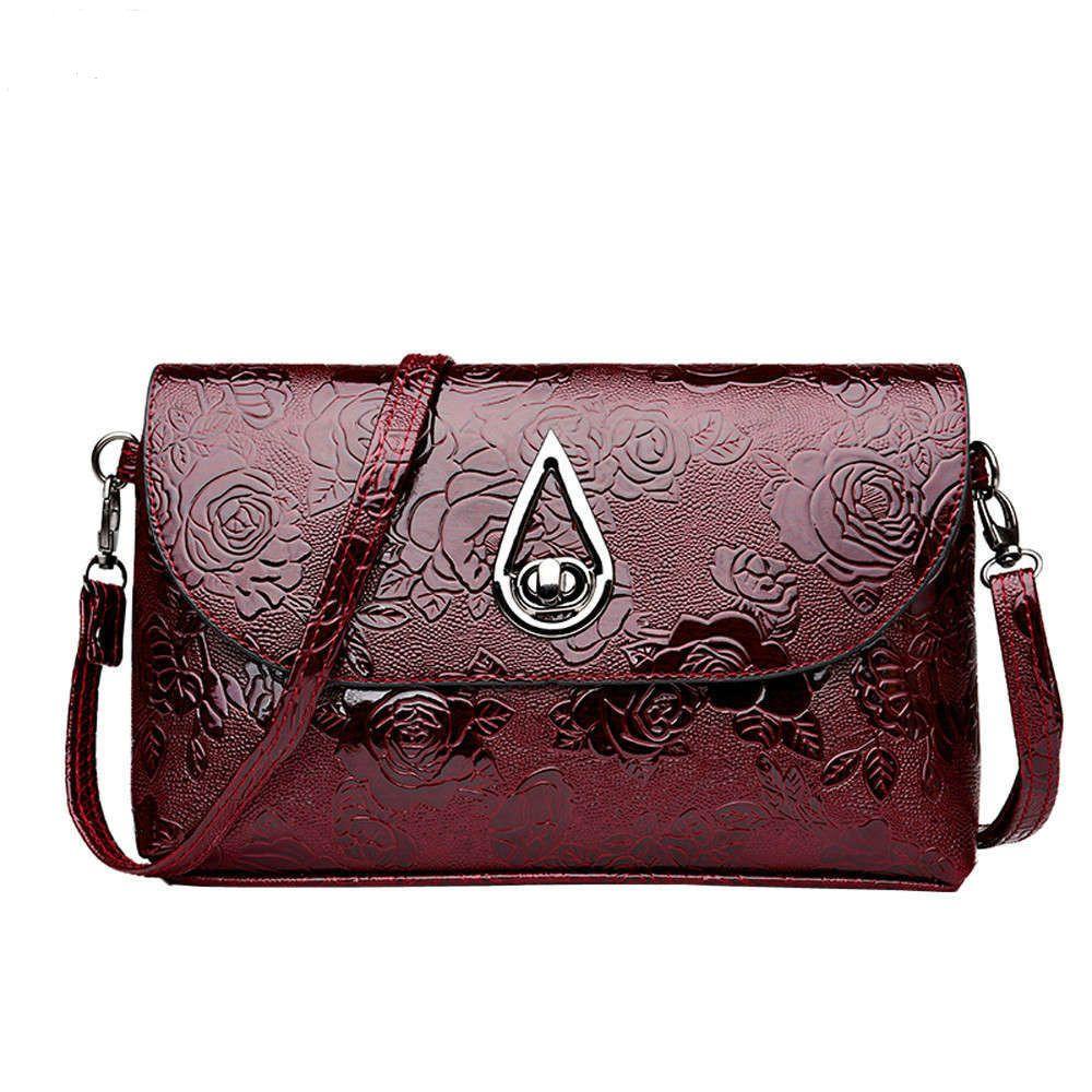 e7f731a88497 Designer 2019 New Arrival High Quality Patent Leather Women Bag Ladies  Cross Body Messenger Shoulder Bags Vintage Handbags Bolsa Feminina Camo  Purses Cross ...