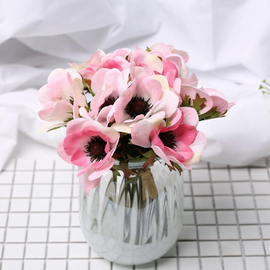 White Artificial Large Flowers Pink Silk Big Flower Home Decoration Butterfly Orchid Fake Flower Wedding Bridesmaid Hand Bouquet
