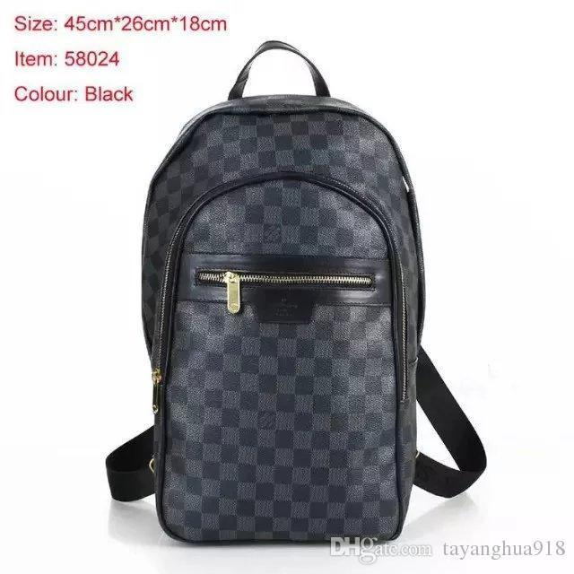 2019 wholesale men s michee old flower checkerboard leather backpack rh dhgate com
