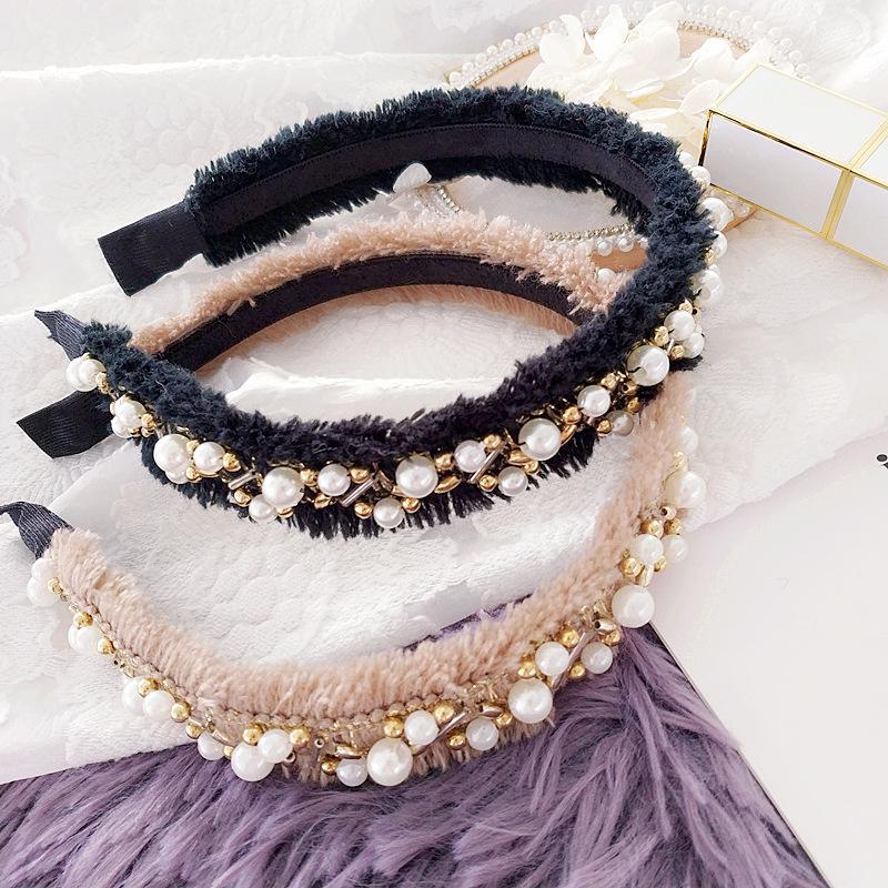 Korea Retro Head hoop Girls Hair Bows Hair Bands Hand made Fabric Hairpin Headbands For Women Hair Accessories Accesorios