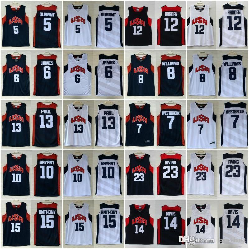 08ea0f4ff8e ... navy blue mens basketball 2016 olympic 1f8f2 dd586  norway 2019 2012 usa  dream team ten jersey 5 kevin durant 10 kobe bryant 12 james