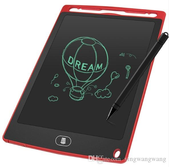 2020 الجديدة 8.5 بوصة LCD الكتابة أقراص مذكرة الرسم اللوحي الالكترونية الرسومات لوحات للأطفال الرقمية الوسادة المفكرة مع القلم وزارة الداخلية