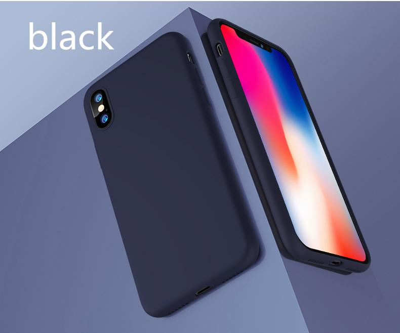 NEW B19 luxury leather back case for iPhoneX , pure color back cover for iPhoneX, high quality