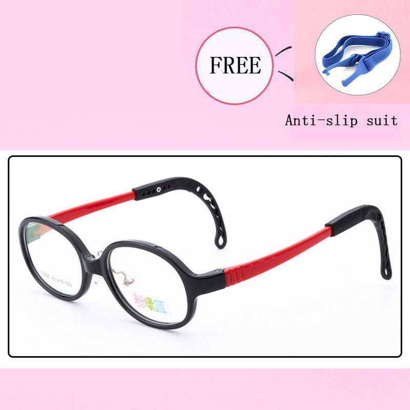 7298f924eba 2019 TR90 Optical Eyeglasses Kids Frames Flexible Glasses Girls Boys Myopia  Lense Children Spectacle Anti Slip Rope Frame 3007 25 From Marquesechriss