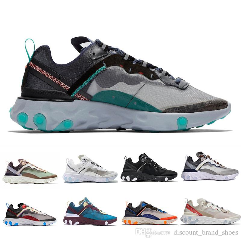 478ce383b07c 2019 Total Orange Upcoming React Element 87 55 Running Shoes Women Blue  Chill Sail Green Mist Men Trainer Designer Sports Sneakers Running Sneakers  Racing ...