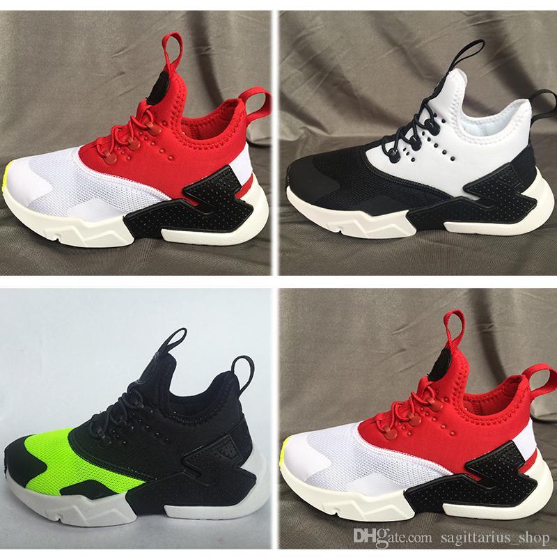 half off f962e a543d Acheter Nike Air Huarache Air Kids Huarache Run 1 Chaussures Garçons Chaussures  Enfants Huaraches En Plein Air Enfant En Bas Âge Athlétique Garçon Et  Filles ...