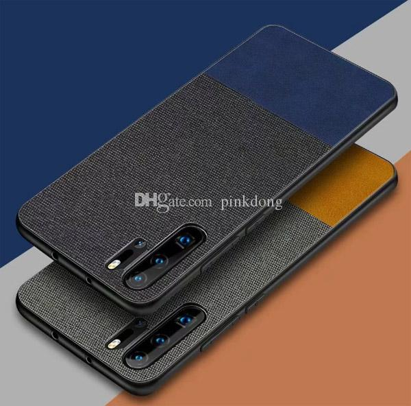 Dual Color fasion Stitching Back leather case cover skin for Huawei Nova4  3i 3 Mate20 and Mate 20 Pro