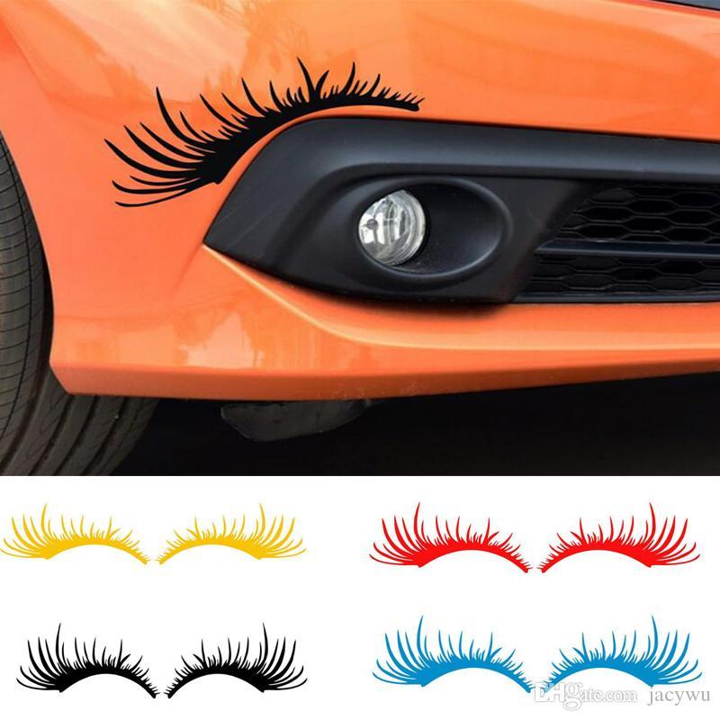 2019 Pet Car Eyelashes Sticker Fashion Cute Car Styling Stickers