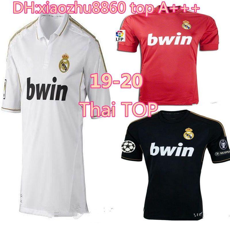 d0110078085 2019 2011 2012 Real Madrid Soccer Jersey 11 12 Retro Jersey Home Away  Champion League RAMOS KAKA RONALDO BENZEMA ALONSO Classic Shirt From  Xiaozhu8860