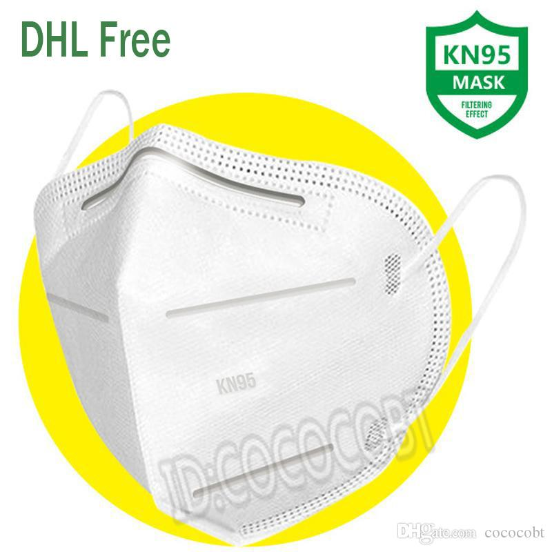 In stock KN95 10 pcs face masks anti dust particle prevent flu safety breathable cover mask earmuffs high quality free DHL shipping