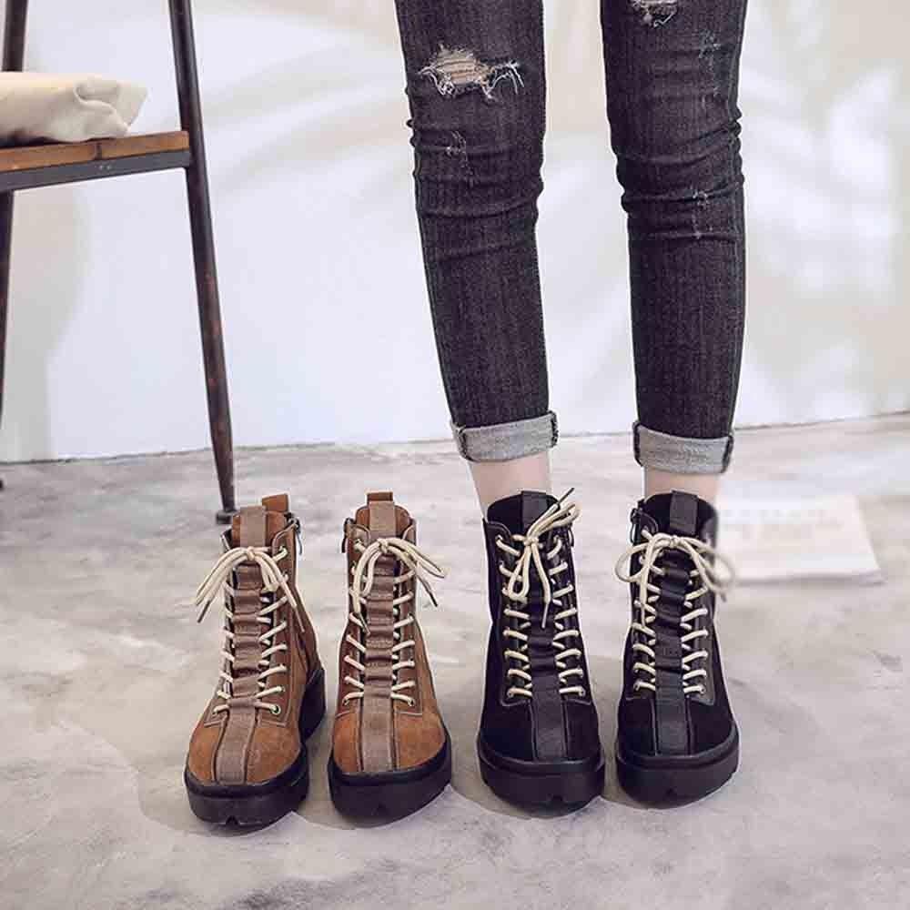 Compre Zapatos Mujer Moda 2018 Damas Estilo Británico Retro Plus Velvet  Botas Cortas Botas De Moto Bota Casual A  41.08 Del Homemie  a3aa2dc5abe42