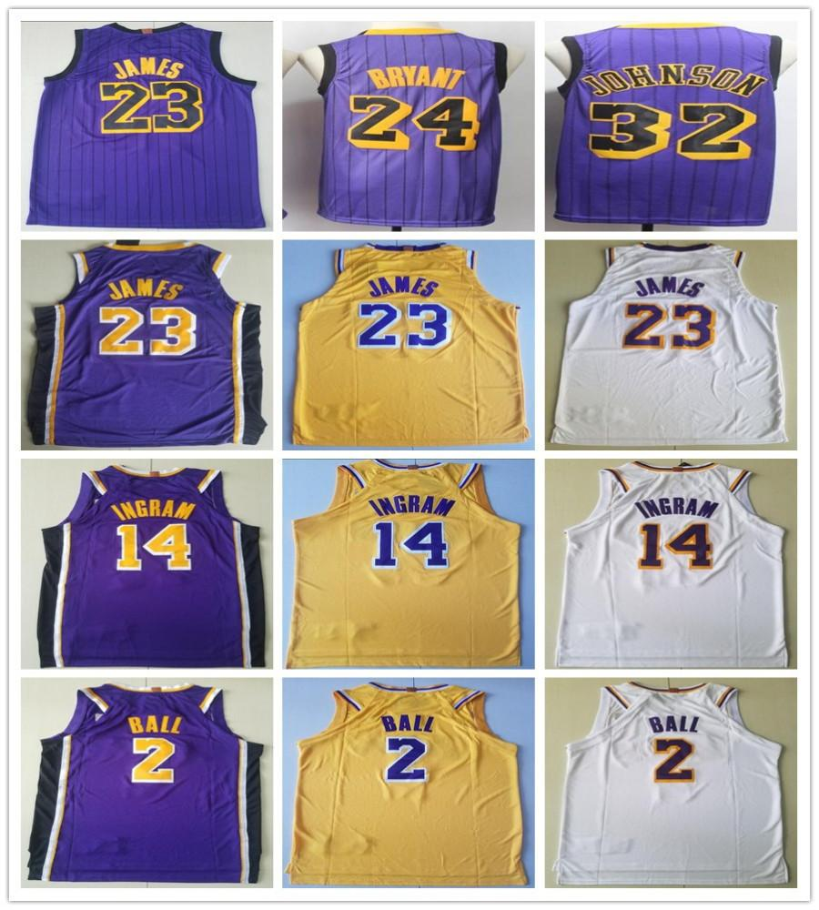 e35ca21b6 New City Edition Purple 23 LeBron James Jerseys 2 Lonzo Ball 0 Kyle ...