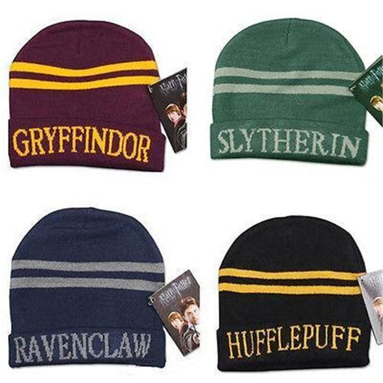 Harry Potter Hat Hogwarts Gryffindor Slytherin Ravenclaw Hufflepuff Badge  Hat Skull Caps Winter Hats Hallowmas Gift T1I1148 Trucker Caps Summer Hats  From ... 584e7346f687