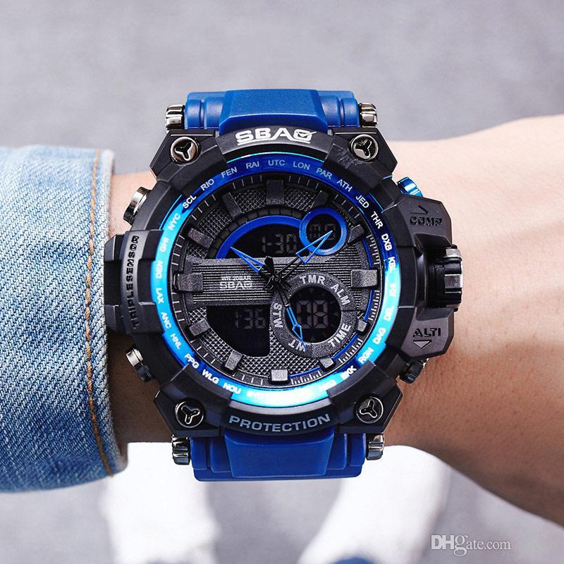 6b020bc6693a Compre 2019 Top Brand Men Relojes Reloj Deportivo Blanco LED Digital 50 M  Impermeable Reloj Casual S Shock Hombre Reloj Relogios Masculino Reloj  Hombre A ...