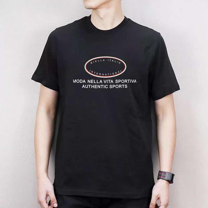 Compre 19ss Lujo Europa Italia Moda Nella Vita Sportiva Camiseta Moda Hombre  Mujer Camiseta Casual Algodón Camiseta Top A  28.43 Del Mifashioncostume ... 27f2d3b170e